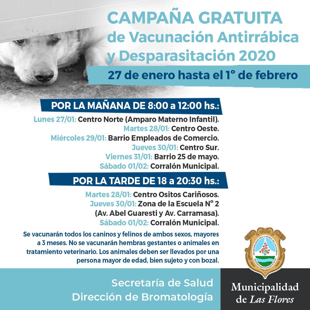 Photo of Campaña de Vacunación Antirrábica 2020